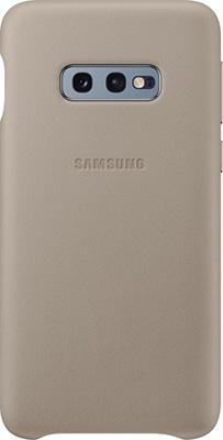 лучшая цена Чехол (клип-кейс) Samsung S 10 e (G 970) LeatherCover gray EF-VG 970 LJEGRU