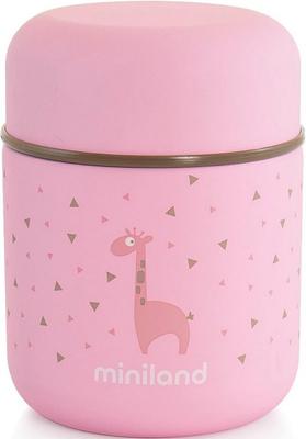 Детский термос для еды и жидкостей Miniland Silky Thermos Mini цвет розовый 280 мл 89245