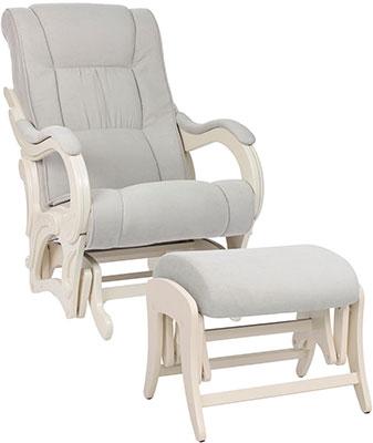 Комплект мебели Milli Style кресло и пуф Дуб шампань ткань Verona Light Grey 4627159508513 m style кресло lenie grey