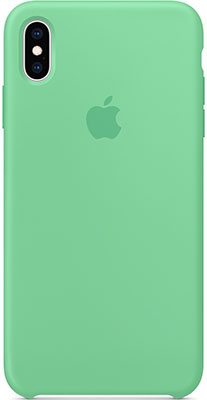 Чехол (клип-кейс) Apple Silicone Case для iPhone XS Max цвет (Spearmint) нежная мята MVF82ZM/A клип кейс guess flower desire для apple iphone xs трехцветная роза