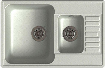Кухонная мойка Lex St. Moritz 740 Space Gray кухонная мойка lex geneva 740 black