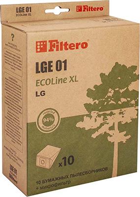 Набор пылесборников Filtero, LGE 03 ECOLine XL 10 шт., Россия  - купить со скидкой