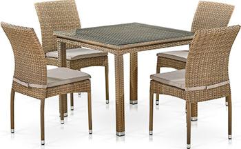 Комплект мебели Афина T257B/Y380B-W65 Light Brown