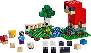 Конструктор Lego Minecraft Шерстяная ферма 21153 цены онлайн