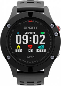 цена Умные часы NO.1 F5 черно-серые (NO.1F5G) онлайн в 2017 году