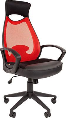 цена на Кресло руководителя Chairman 840 черный пластик TW-69 красный 00-07025294