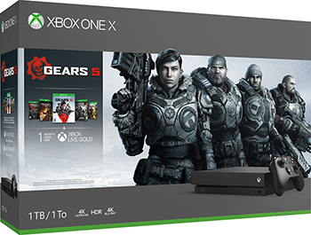 Стационарная приставка Microsoft Xbox One X с 1 ТБ памяти и играми Gears 5 Ultimate-издание Gears of War Gears of War 2 3 и 4 цена в Москве и Питере
