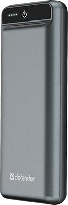Внешний аккумулятор Defender ExtraLife 15000F 2USB 15000mAh 2.1A (83668) внешний аккумулятор defender extralife 8000s 1usb 8000mah 2 1a 2 входа 83667