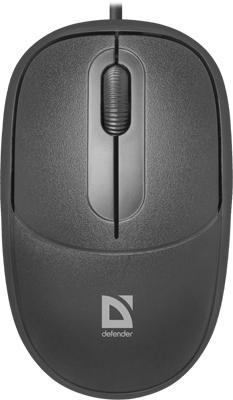 Проводная мышь Defender Datum MS-980 черный 3 кнопки 1000dpi (52980)