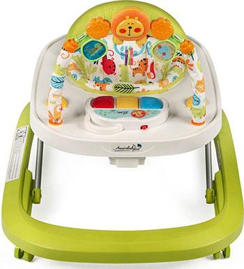 Ходунки детские с электронной игровой панелью Amarobaby Walking Baby GREEN (зеленый) AMARO-21WB-Ze