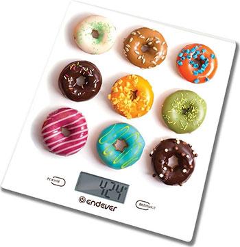 Кухонные весы Endever Skyline KS-521 рисунок Пончики