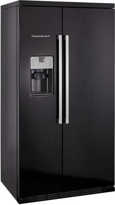 Холодильник Side by Side Kuppersbusch KJ 9750-0-2 T чёрный встраиваемый холодильник side by side kuppersbusch kei 9750 0 2 t сталь