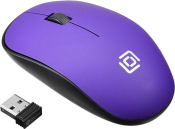 Беспроводная мышь Oklick 515MW черный/пурпурный оптическая (1200dpi) беспроводная USB (2but) мышь беспроводная hp 200 silk золотистый чёрный usb 2hu83aa
