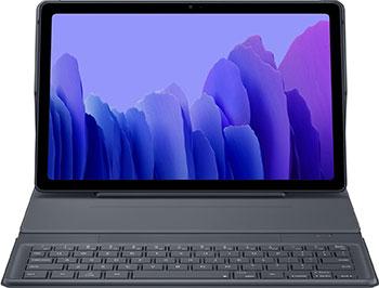 Чехол-обложка Samsung Galaxy Tab A7 с клавиатурой серый (EF-DT500BJRGRU)