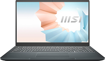 Фото - Ноутбук MSI MODERN 14 B11MO-063RU (9S7-14D314-063) Carbon Grey ноутбук msi stealth 15ma11sdk 032ru 9s7 156211 032 carbon grey
