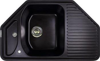 Кухонная мойка Zigmund amp Shtain ECKIG 800 черный базальт