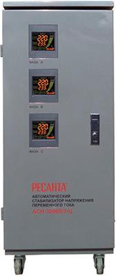Стабилизатор напряжения Ресанта ACH - 30 000/3-Ц стабилизатор напряжения ресанта ach 10000 1 ц 1 розетка серый