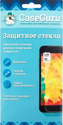 Защитное стекло CaseGuru для Apple iPhone 6 6S Plus Gold Logo цена и фото