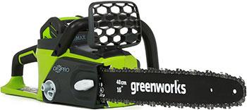 Цепная пила Greenworks 40 V G-max GD 40 CS 40 без аккумулятора и зарядного устройства 20077 аккумуляторный кусторез greenworks 80 v digi pro gd 80 ht без аккумулятора и зарядного устройства 2200607