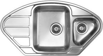Кухонная мойка Florentina ПРОФИ 945.510.1K.08 нержавеющая сталь декорированная кухонная мойка florentina профи 780 500 10 08 нержавеющая сталь декорированная чаша слева