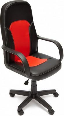 Кресло Tetchair PARMA (кож/зам черный красный PU 36-6/PU 36-161) кресло компьютерное tetchair парма parma доступные цвета обивки искусств чёрная кожа