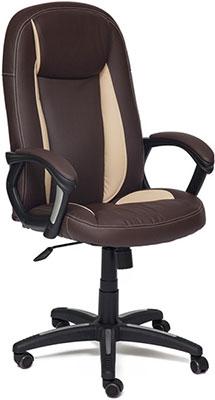 Кресло Tetchair BRINDISI (кож/зам коричневый/бежевый/коричневый перфорированный 36-36/36-34/06) цена