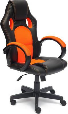 Кресло Tetchair RACER GT (кож/зам ткань черный/оранжевый 36-6/07) кресло tetchair runner кож зам ткань черный оранжевый 36 6 tw 07 tw 12