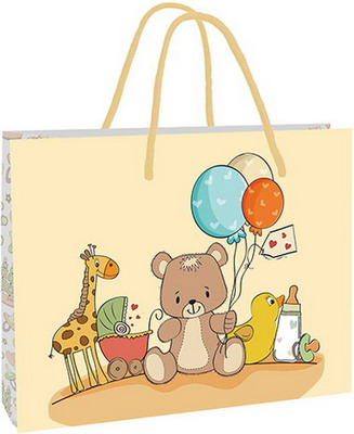 Подарочный бумажный пакет PIONEER Baby Time PB 20