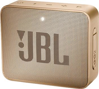 лучшая цена Портативная акустическая система JBL GO2 брызги шампанского JBLGO2CHAMPAGNE