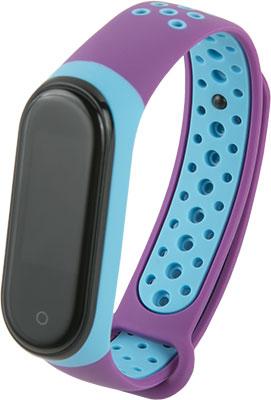Ремешок двухцветный Red Line для фитнес-браслета Xiaomi Mi Band 4/ 3 фиолетовый с голубым
