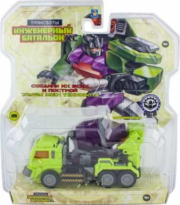 Трансформеры 1 Toy Трансботы ''Инженерный батальон XL: Мега Миксербот'' роботы 1 toy робот трансботы инженерный батальон xl мега кранер
