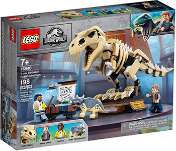 Конструктор Lego Скелет тираннозавра на выставке 76940