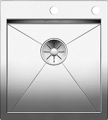 Кухонная мойка BLANCO ZEROX 400-IF/А нерж. сталь зеркальная полировка с клапаном-автоматом 521629 мойка кухонная blanco lantos 9e if полированная нерж сталь с клапаном автоматом 516277