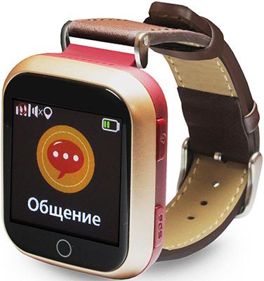 Детские часы с GPS поиском Ginzzu GZ-521 brown 1.44'' Touch nano-SIM 16834 детские умные часы ginzzu gz 521 brown