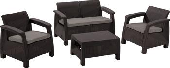 Комплект мебели Allibert Corfu set коричневый комплект мебели allibert corona set with cushion box капучино 17198017