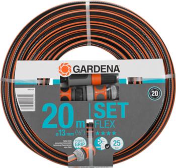 Шланг садовый Gardena FLEX 13 мм (1/2'') 20 м с фитингами 18034-20 шланг садовый gardena basic 13 мм 1 2 20 м 18123 29