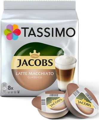 Кофе капсульный Tassimo Латте Макиато Классико кофе капсульный tassimo латте макиато бейлиз