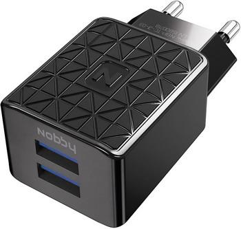 Сетевое зарядное устройство+универсальный DATA кабель Nobby Practic NBP-TC-21-03