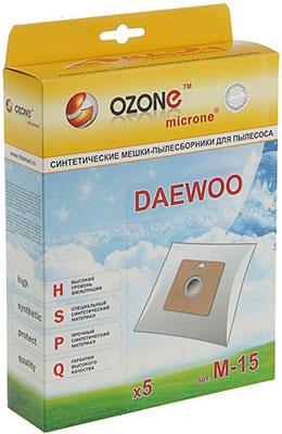 Мешки-пылесборники Ozone M-15 синтетические для пылесоса 5 шт