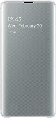 Чехол (флип-кейс) Samsung S 10+ (G 975) ClearView white EF-ZG 975 CWEGRU аксессуар чехол для samsung galaxy n970 clearview black ef zn970cbegru