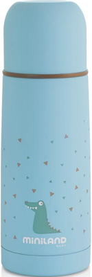 цена на Детский термос для жидкостей Miniland Silky Thermos 350 мл голубой 89216