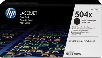 Набор картриджей HP CE 250 XD Черный
