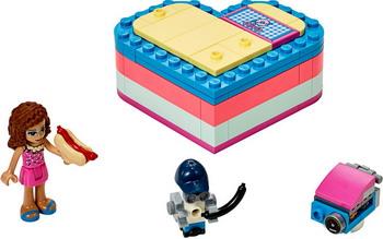 Конструктор Lego Friends 41387 Летняя шкатулка-сердечко для Оливии lego friends 41354 шкатулка сердечко андреа конструктор
