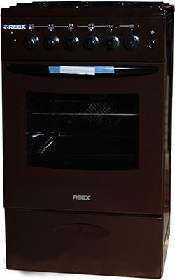 Комбинированная плита Reex CGE-540 ecBn коричневый газовая плита reex cge 540 ecbk