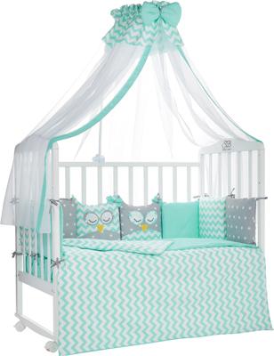 Комплект в кроватку Sweet Baby Civetta Verde (Мятный) 7 пр. 424 468 комплект в кроватку kidboo sweet home 6 предметов pink