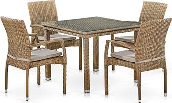 Комплект мебели Афина T257B/Y379B-W65 Light Brown комплект плетеной мебели афина мебель lv130 brown beige