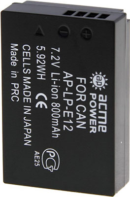 Фото - Аккумулятор для системных камер AcmePower AP-LP-E12 аккумулятор