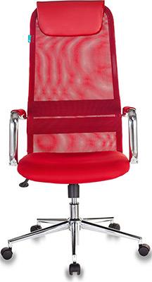 Кресло Бюрократ KB-9N/R/TW-97N красный кресло руководителя бюрократ kb 9 на колесиках сетка красный [kb 9 r tw 97n]