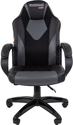 Кресло Chairman game 17 экопремиум черный/серый 00-07024558