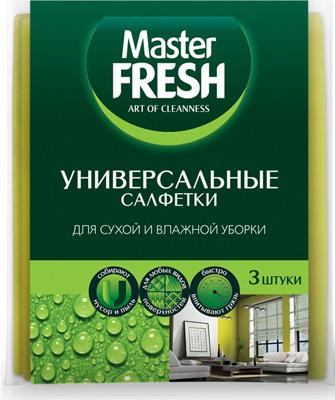 Универсальные салфетки Master FRESH, для уборки (вискоза повышенной плотности 30*38 см) С0006010, Россия  - купить со скидкой